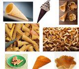 Conos para helados , tulipanes , base helado en polvo , espesante , etc
