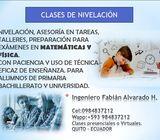 CLASES DE NIVELACION DE MATEMATICAS Y FISICA - QUITO