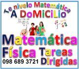 CLASES DE MATEMÁTICA Y FÍSICA  A DOMICILIO