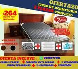 *MEGA COMBO 2 PLAZAS* JUEGO DE DORMITORIO MATRIMONIAL COMPLETO Increible A SOLO 264 USD