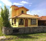 """En Cotacachi, cerca al """"Rancho Santa Fé"""" rento linda casita acogedora"""