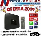 TV BOX TX9 CON 2 RAM Y 16 GB INTERNA CONVERTIDOR DE TV A SMART TV