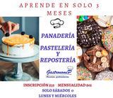 CURSO DE PANADERÍA, PASTELERÍA Y REPOSTERÍA EN SOLO 3 MESES