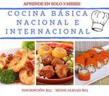 CURSO DE COCINA BÁSICA NACIONAL E INTERNACIONAL EN SOLO 3 MESES