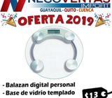 BALANZA PERSONAL DE VIDRIO TEMPLADO CON PANTALLA DIGITAL