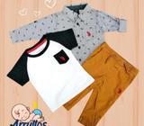12 y 18 MESES COMBO bebe niño CAMISA Camiseta Pantalón