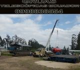 ALQUILER DE GRUAS TELESCOPICAS GRUAS