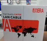 Cable de Red Utp CAT5E Anera 305 Metros Bobina blanco