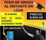 TESIS, MAESTRÍAS Y DOCTORADOS AL INSTANTE EN LOJA