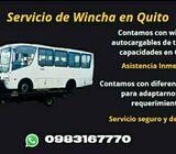 Winchas en Quito las 24 hrs
