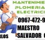 PLOMERO QUITEÑO SALVADOR CHILIQUINGA EN QUITO NORTE SN CARLOS 0967472940 PLOMERIA