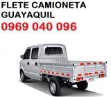 FLETE GUAYAQUIL CAMIONETA  PEQUEÑAS MUDANZAS 0969040096